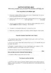 English Worksheet: BRITISH HISTORY QUIZ