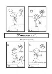 what season is it esl worksheet by mara69. Black Bedroom Furniture Sets. Home Design Ideas