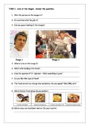 Jamie Oliver´s school dinners - reading comprehension