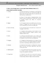 English Worksheets: TV Vocabulary - TV Series