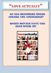 """LOVE ACTUALLY"" STORY AND CHARACTERS. MOVIE WORKSHEET"