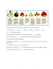 English Worksheet: angry birds