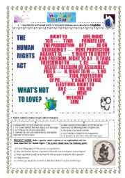 English Worksheet: human rights