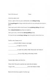 English Worksheets: advanced revistion
