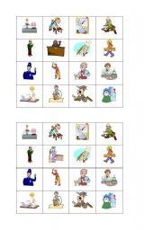 English Worksheets: bingo_jobs