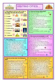 English Worksheets: Visiting Cities...
