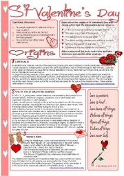 English Worksheets: St Valentine´s Day