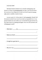English Worksheets: Advice Column