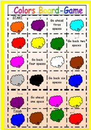 English Worksheets: Colors board-game