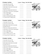 English Worksheets: Grammar Auction - Determiners