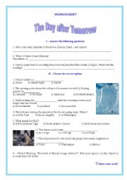 Worksheet on the movie ´The Day After Tomorrow´