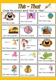 English Worksheets: This/That- Choose the correct one.
