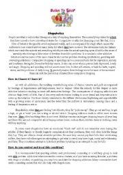 English Worksheet: chopaholism