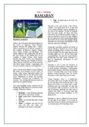 English Worksheets: Ramadán