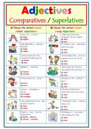English Worksheets: Adjectives..Choose the correct answer