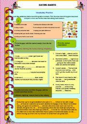 English Worksheet: Eating Habits