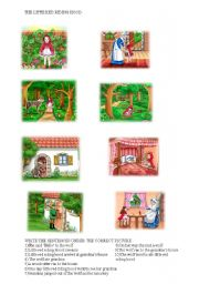 English Worksheet: The little red riding hood