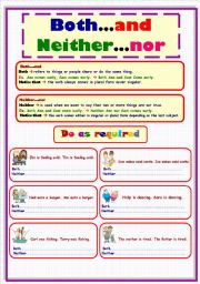 English Worksheet: Both..and/ Neither..nor