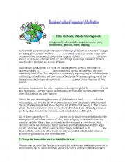 Social and cultural impacts of globalization