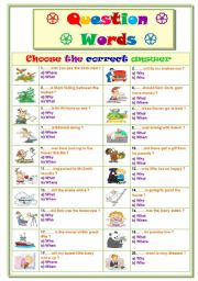 English Worksheet: Question Words 2...