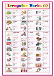 English Worksheets: Irregular Verbs .... Part ( 1 ) From (a to d)