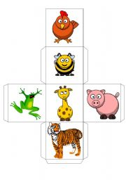 English Worksheets: ANIMALS -- DICE -- 2