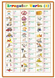 English Worksheets: Irregular Verbs .... Part ( 2  ) From ( d to l )