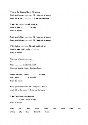 English Worksheet: Eric Clapton/Tears In Heaven Song Worksheet
