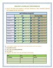 English Worksheets: frequency adverbs and time expressions