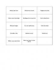 English Worksheet: charade on idioms