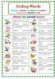 English Worksheet: Linking Words...
