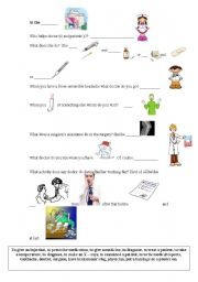 English Worksheet: At the hospital