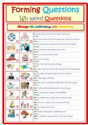 English Worksheets: Forming Questions....Wh word