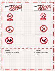 English Worksheet: prohibition signs