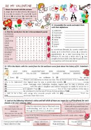 English Worksheets: BE MY VALENTINE