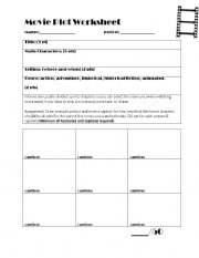 English Worksheet: Movie Plot Worksheet
