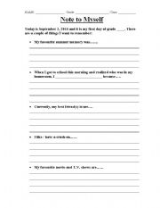 Printables Ice Breaker Worksheets english teaching worksheets ice breakers note to self breaker
