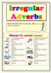 English teaching worksheets: Adverbs