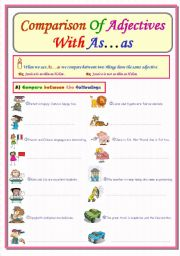 English teaching worksheets: As...as comparison