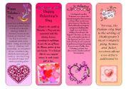 Valentine´s Day bookmarks