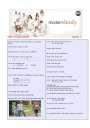 English Worksheet: Modern Family Series 1 Episode 2