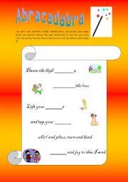 English Worksheets: Magic wand