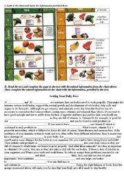 Vitamins and Minerals (Healthy Food)