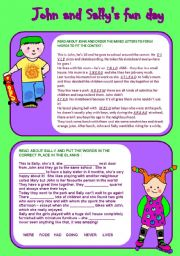 English Worksheets: Reading Comprehension (present-past)