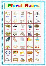 English Worksheets: Plural Nouns ....