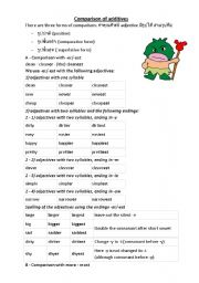 English Worksheets: Comparison Practice