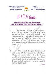 English Worksheets: writing   worksheet