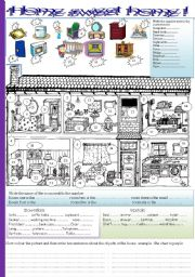 English Worksheet: home sweet home