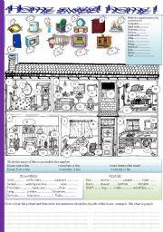 English Worksheet: home sweet home