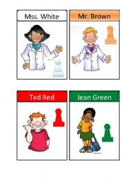 CLUEDO CHARACTERS CARDS part3